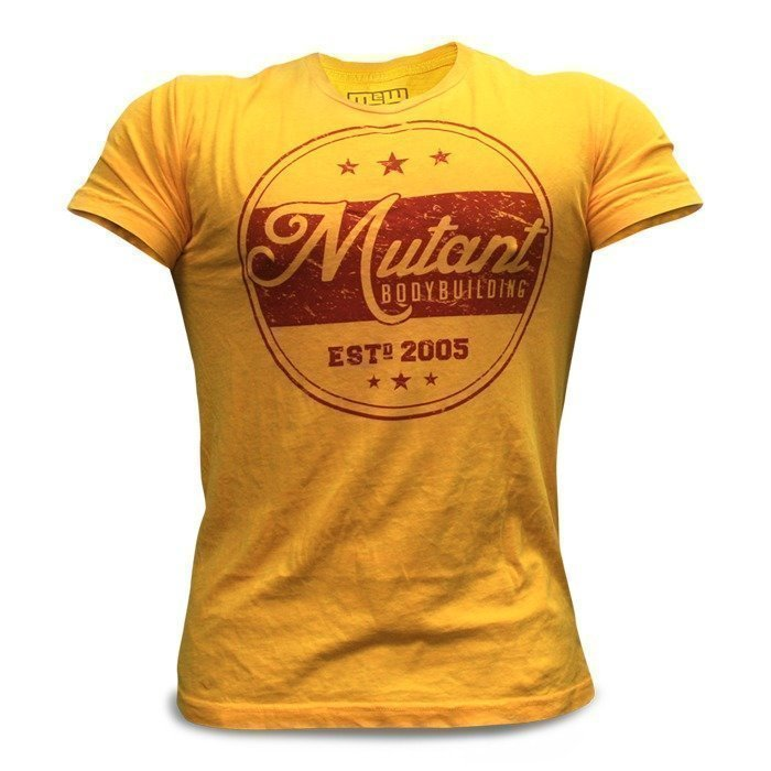 Mutant Vintage Mutant Bodybuilding T-Shirt (Yellow) - XX-large