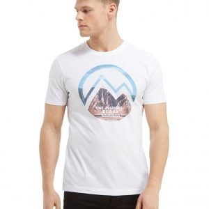 Napapijri Mountain Graphic T-Paita Valkoinen