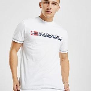 Napapijri Short Sleeve Logo T-Paita Valkoinen