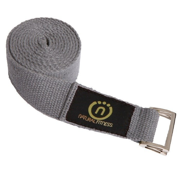 Natural Fitness Hemp Yoga Strap Granite