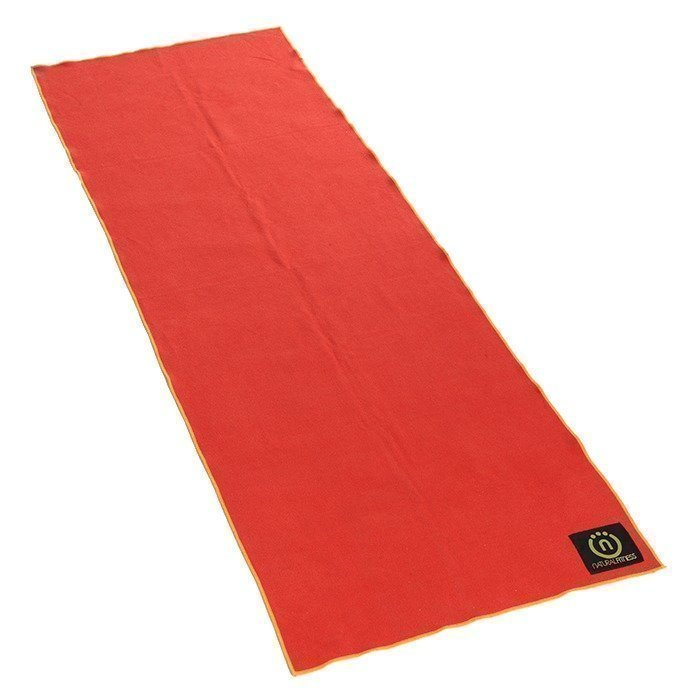 Natural Fitness Yoga Mat. Towel- Carbon/Sun