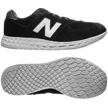 New Balance 574 Fresh Foam Suede Musta/Valkoinen