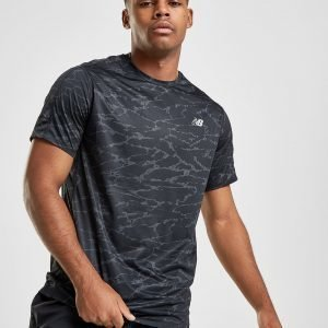 New Balance Accelerate All Over Print T-Shirt Musta