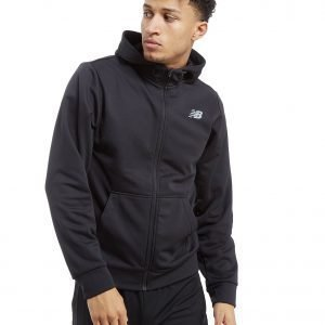 New Balance Core Full Zip Poly Hoodie Musta