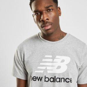 New Balance Logo T-Paita Harmaa