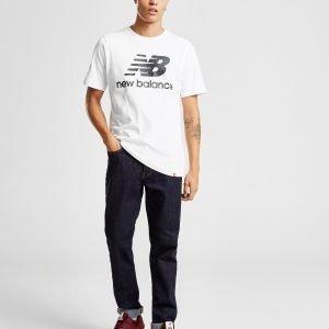 New Balance Logo T-Paita Valkoinen
