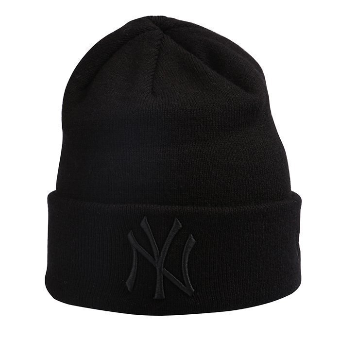 New Era Basic Cuff Knit New York Yankees Black One Size