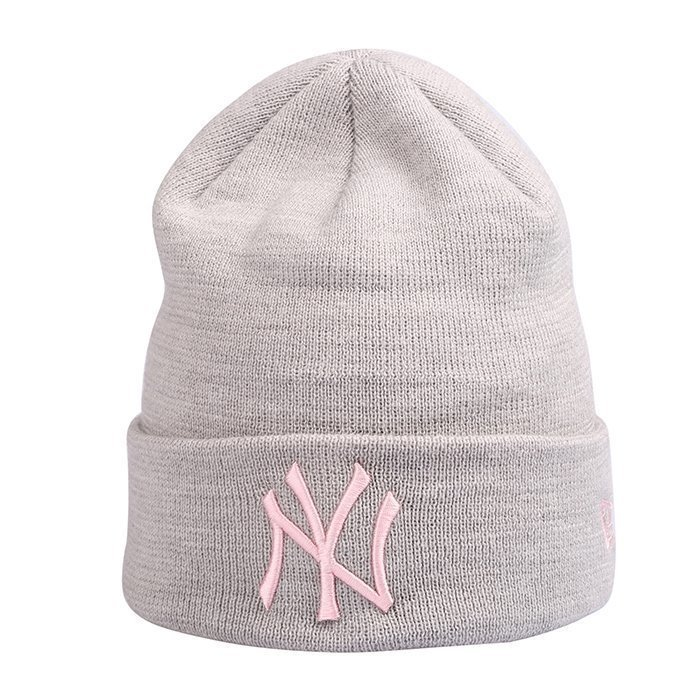 New Era Basic Cuff Knit New York Yankees Grey/Pink One Size