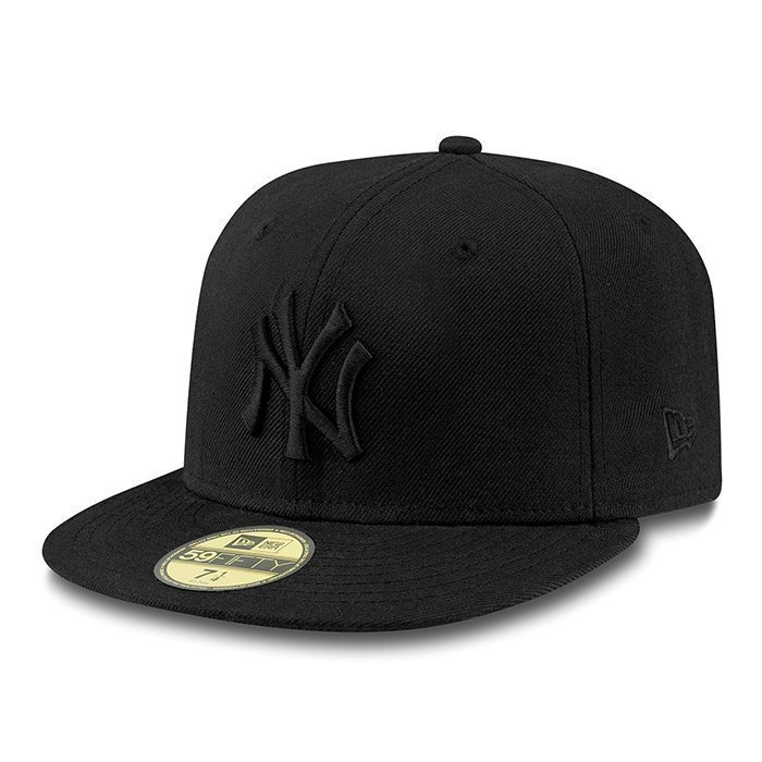 New Era Black On Black New York Yankees Black 7 5/8