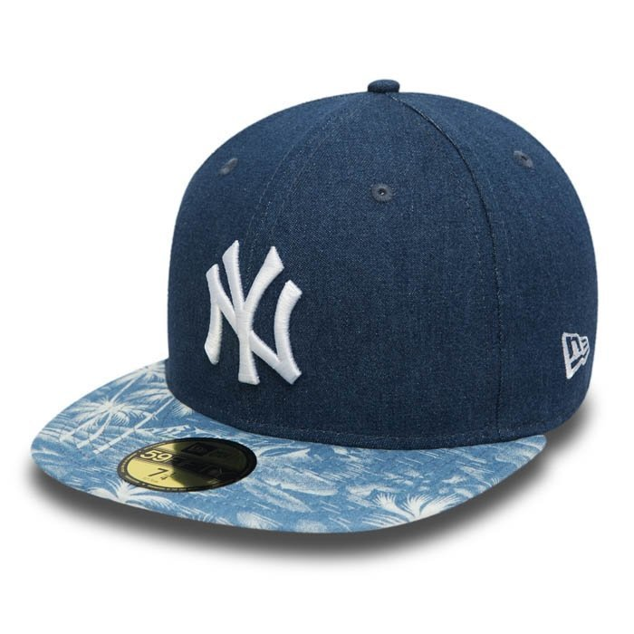 New Era Den Palm Fitted Neyyan Navy/Multi Coloured 7 5/8