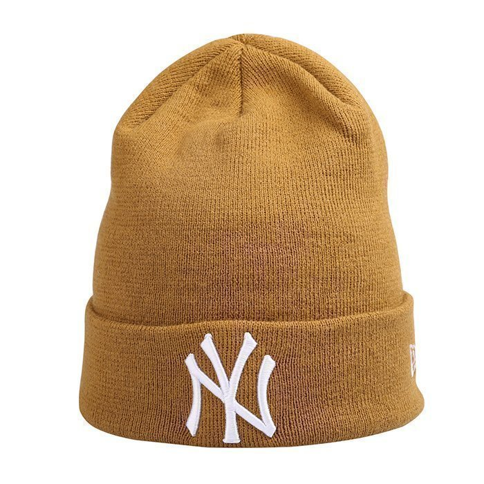New Era Essential Cuff Knit New York Yankees Mustard One Size