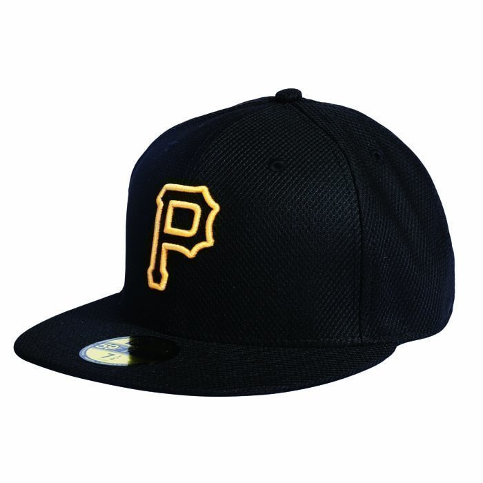 New Era MLB Diamond ERA Authentic 5950 Pittsburgh Black 7 1/8