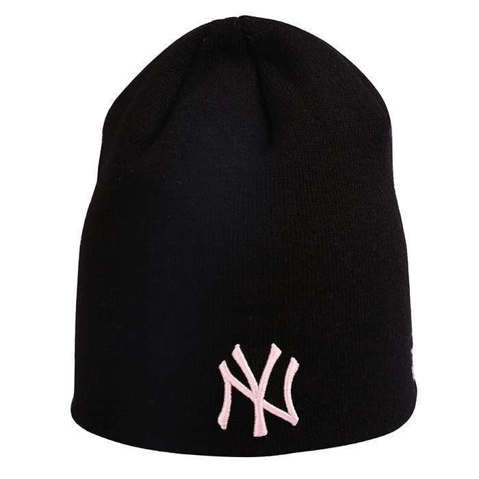 New Era MNO Womens Skull Knit New York Yankees Black/Pink One Size