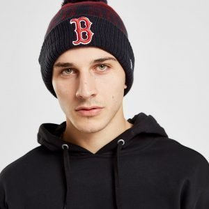 New Era Mlb Boston Red Sox Pom Beanie Laivastonsininen