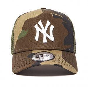 New Era Mlb New York Yankees Snapback Trucker Cap Camouflage