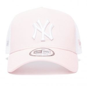 New Era Mlb New York Yankees Snapback Trucker Cap Vaaleanpunainen