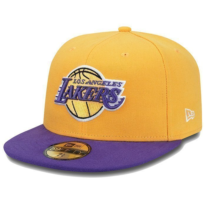 New Era NBA Basic LA Lakers yellow/purple 7 1/2