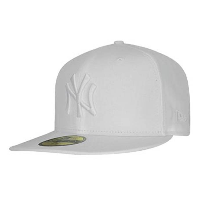 New Era Optic Neyyan 5950 White on White 7 1/2