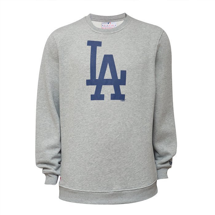 New Era Team Logo Crew Dodgers Heather Gray XS