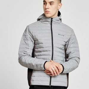 Nicce All Over Reflective Bubble Jacket Hopea
