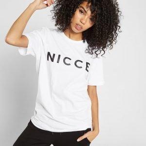 Nicce Boyfriend Logo T-Paita Valkoinen
