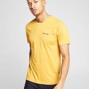 Nicce Chest Logo T-Paita Keltainen