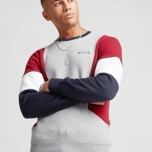 Nicce Colour Block Crew Sweatshirt Harmaa
