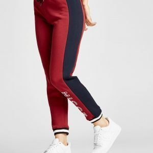 Nicce Colour Block Track Pants Burgundy / Navy