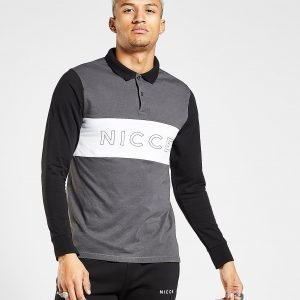 Nicce Ober Long Sleeve Polo Shirt Harmaa