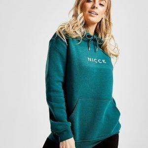 Nicce Small Logo Boyfriend Hoodie Sininen