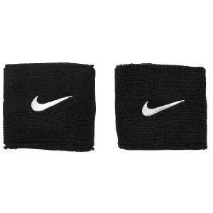 Nike 2 Pack Swoosh Wristband Musta