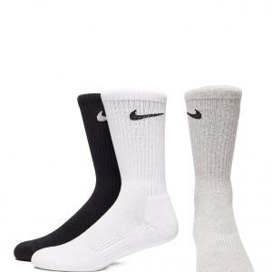 Nike 3 Pack Basic Cuff Socks Harmaa