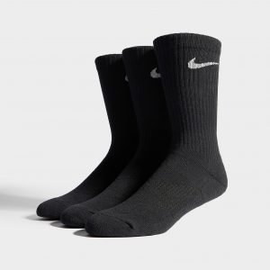 Nike 3 Pack Basic Cuff Socks Musta