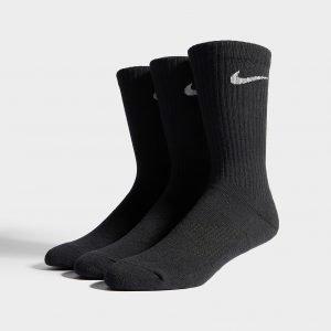 Nike 3 Pack Basic Cuff Socks Musta