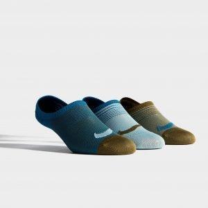 Nike 3 Pack Low Socks Sininen