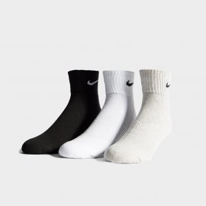 Nike 3 Pack Quarter Socks Assorted