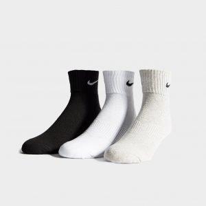 Nike 3 Pack Quarter Socks Assorted