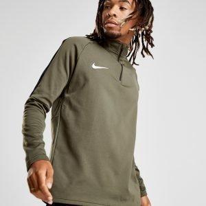 Nike Academy 1/4 Zip Paita Khaki / White