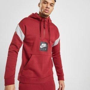 Nike Air 1/2 Zip Fleece Hoodie Punainen