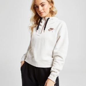 Nike Air Crop 1/4 Zip Overhead Huppari Valkoinen