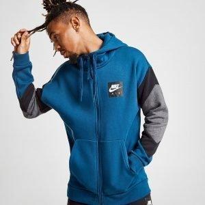 Nike Air Full Zip Colour Block Hoodie Sininen
