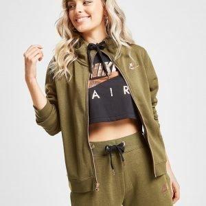 Nike Air Full Zip Huppari Khaki / Gold