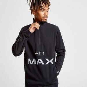 Nike Air Max Poly 1/2 Zip Sweatshirt Musta