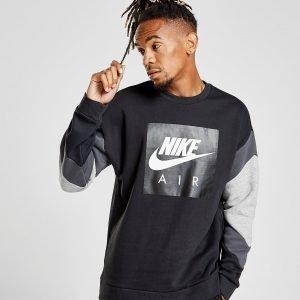 Nike Air Sleeve Colour Block Sweatshirt Musta
