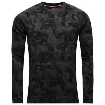 Nike Collegepaita Authentic Tech Fleece Crew Harmaa/Musta