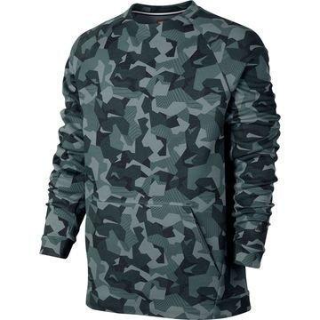 Nike Collegepaita Authentic Tech Fleece Crew Vihreä/Musta