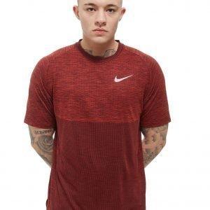 Nike Dry Medalist Short Sleeve T-Shirt Burgundy