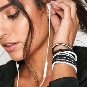 Nike Elastic Hairband Hiuslenkki Valkoinen / Musta 9-Pakkaus