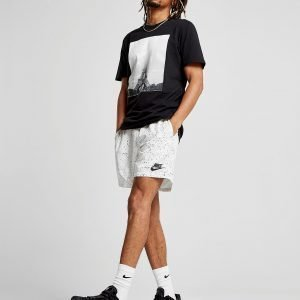 Nike Flow All Over Print Shorts Valkoinen