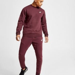 Nike Foundation Fleece Verryttelyhousut Burgundy / White